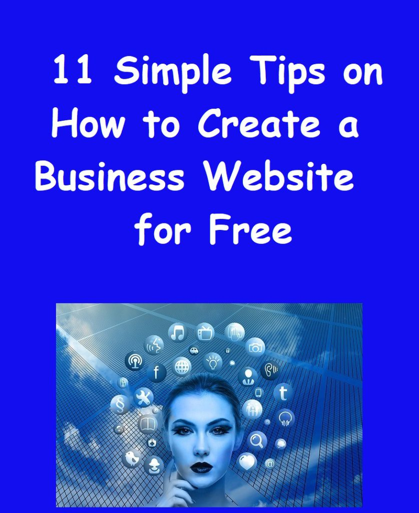 how to create a business website for free